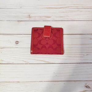 ❤️Coach Candy Apple Red Bifold Wallet